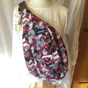 KAVU Rope Bag Crossbody Sling Bag Backpack Sunset
